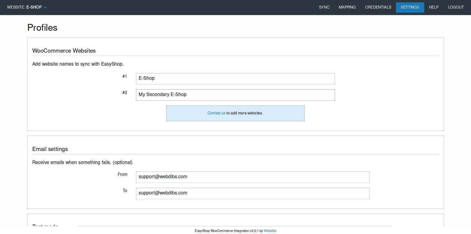 Shopify-EasyShop-Aims360 Sync-API